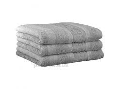 Махровое полотенце Cawoe Noblesse Uni 1001-705 platin 50х100 см