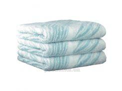 Махровое полотенце Cawoe Noblesse Natur Allover 1070-46 soft-turkis 80х150 см
