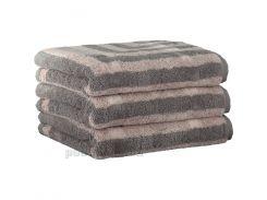 Махровое полотенце Cawoe Noblesse Graphic 1069-70 kiesel 50х100 см