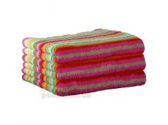 Махровое полотенце Cawoe Life style Streifen 7008-25 multicolor 50х100 см