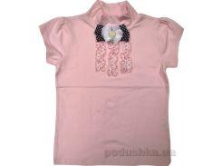 Блуза для девочки Американка роза-горошек Zebra kids ГБ111108-122 140