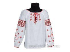 Вышиванка для девочки Ровенщина Гармония красно-черная 86