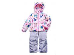 Куртка-жилет (трансформер) для девочки Animals 03-00695 Модный карапуз розовая 86