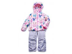 Куртка-жилет (трансформер) для девочки Animals 03-00695 Модный карапуз розовая 92