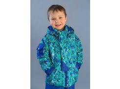 Куртка демисезонная City для мальчика 03-00639 Модный карапуз Домики 98
