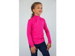 Гольф для девочки на кнопках 03-00594 Модный карапуз Малиновый 134