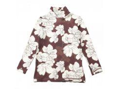 Гольф для девочки Kids Couture 16-19 коричневый с цветами 146