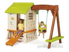 Дом Сладкие мечты с горкой и качелями Smoby 810601