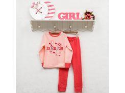 Пижама трикотажная для девочки Фламинго 262-1005 122