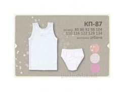 Комплект для девочек Бемби КП87 рибана 128 цвет белый рисунок