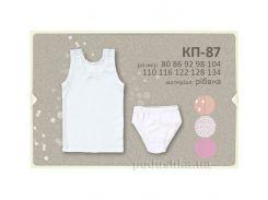 Комплект для девочек Бемби КП87 рибана 134 цвет белый рисунок