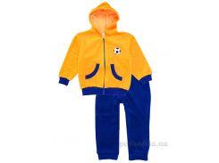 Спортивный костюм детский Татошка 08315 велюр желтый с синим 92