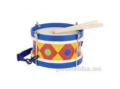 Музыкальный инструмент goki Барабан с шлейкой синий 61982G