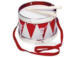 Музыкальный инструмент goki Барабан с шлейкой красный 61001G