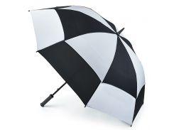 Зонт-гольфер Fulton Stormshield S669 Black White черно-белый