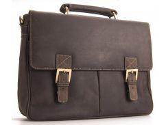 Мужской кожаный портфель Visconti 18716 Berlin oil brown