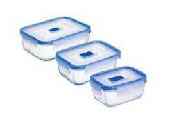 Набор форм для хранения Luminarc Pure Box Active прямоугольные 380 мл.820 мл.1220 мл N2618