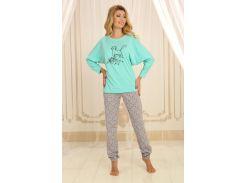 Пижама женская Violet delux П-М-62 мята XL