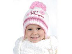 Шапка для девочки Цветок Аlex Д300 цвет розовый
