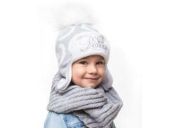 Шапка для девочки Принцесса Аlex Д237 цвет серый