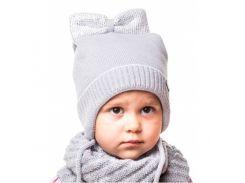 Шапка для девочки Бантик Аlex Д299 цвет серый