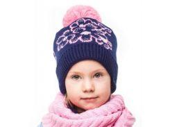 Шапка для девочки Букет Аlex Д247 цвет синий