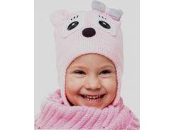 Шапка для девочки Мышка Аlex Д276 цвет светло-розовый