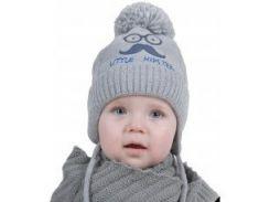 Шапка для мальчика Hipster Аlex Д301 цвет светло-серый