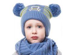 Шапка для мальчика Машинка Аlex Д275 цвет синий