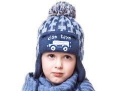 Шапка для мальчика Автобус Аlex Д270 цвет джинс