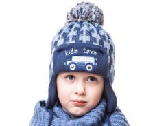 Шапка для мальчика Автобус Аlex Д270 цвет серый