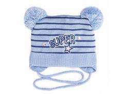 Шапка для мальчика Super Аlex Д278 цвет голубой