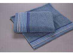 Полотенце махровое микрохлопок Yanatex Б435 синий 70х130 см плотность 450 г/м2