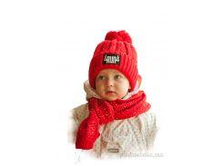 Шапка и шарф для детей Bilamila 17-206 цвет синий