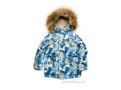 Куртка зимняя для мальчика Буквы Модный карапуз 03-00735 110