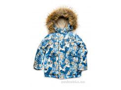 Куртка зимняя для мальчика Буквы Модный карапуз 03-00735 116