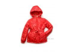 Куртка демисезонная для девочки Красный тюльпан Модный карапуз 03-00749-0 110