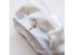 Берет для крещения новорожденного Бетис велюр 74 цвет белый