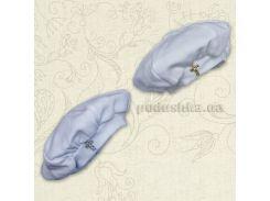 Берет для крещения новорожденного Бетис интерлок 74 цвет белый
