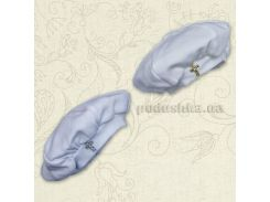 Берет для крещения новорожденного Бетис интерлок 86 цвет белый
