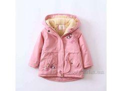 Курточка зимняя для девочки ZCLA Baby 2712-551 светло-розовая 140 (7-8 лет)