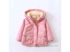 Курточка зимняя для девочки ZCLA Baby 2712-552 светло-розовая 140 (7-8 лет)