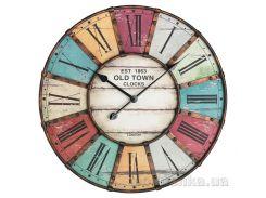 Часы настенные TFA Vintage XXL античный стиль металл d600x50 мм 603021