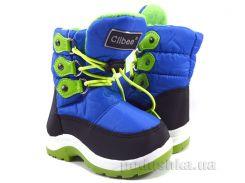 Сапожки дутики для мальчика Clibee K92royal-green 25