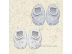 Пинетки для новорожденных Бантик Бетис интерлок 56 цвет молочный