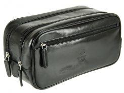 Мужской кожаный несессер Visconti MZ-100 Naples black