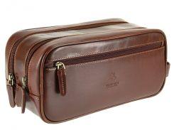Мужской кожаный несессер Visconti MZ-100 Naples brown