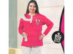 Пижама для женщин Adalya 2091 малиновая XXXL