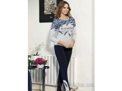 Женский комплект серый с черным Shirly 21110 L