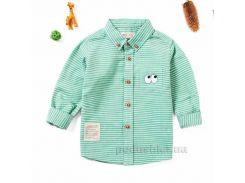 Рубашка с длинным рукавом для мальчика JBCK 1704 зеленая размер 90 (2-3 года)